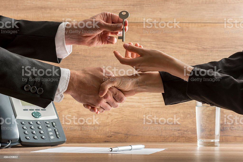 Successful business deal stock photo