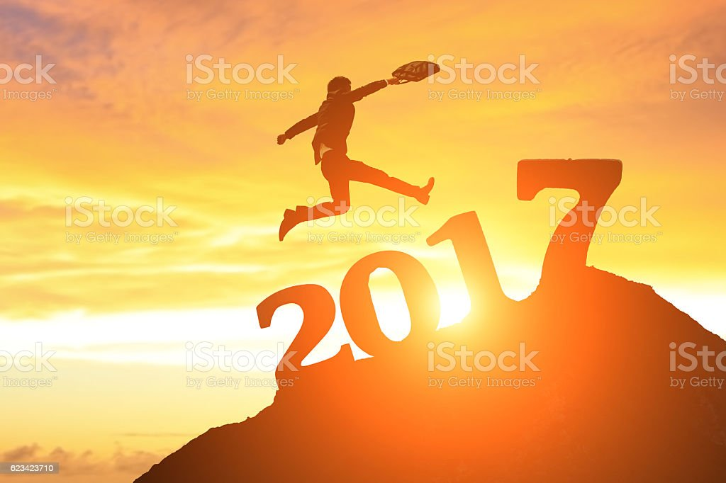 successful business in 2017 stock photo