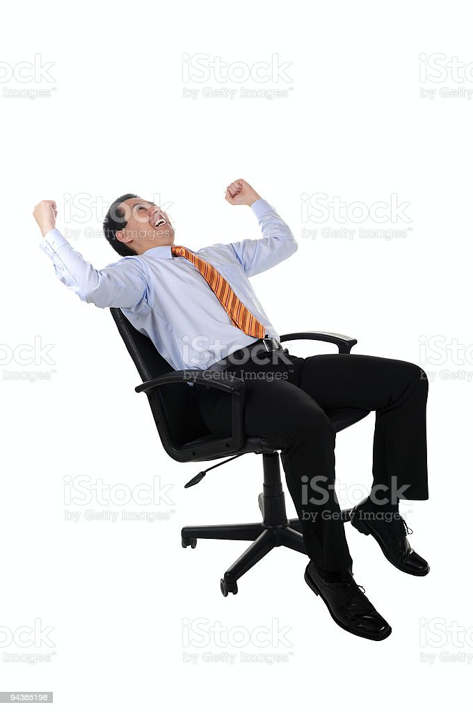 Successful Business Man in Chair royalty-free stock photo