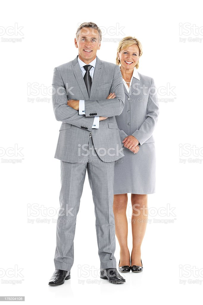 Successful business partners standing together royalty-free stock photo