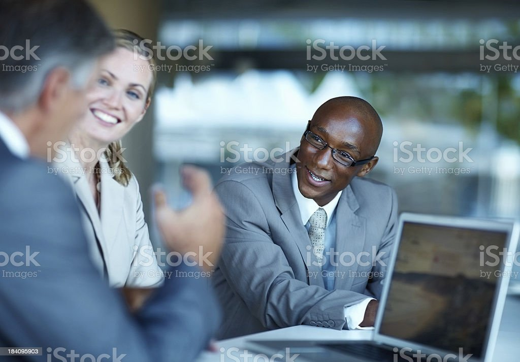 Successful business people discussing during a meeting royalty-free stock photo