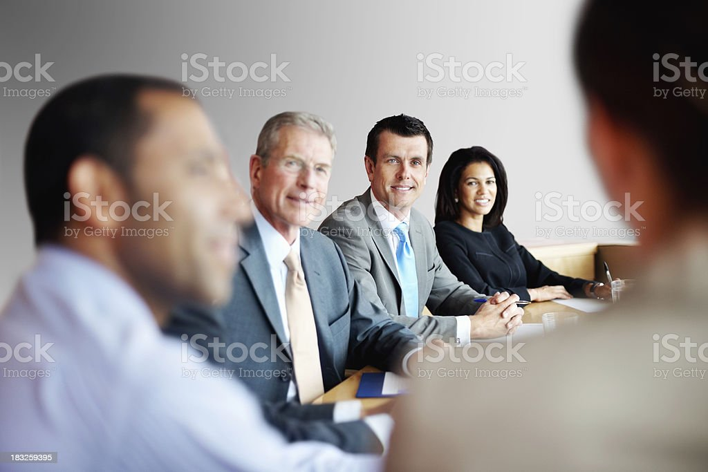 Successful business people having a meeting at office royalty-free stock photo