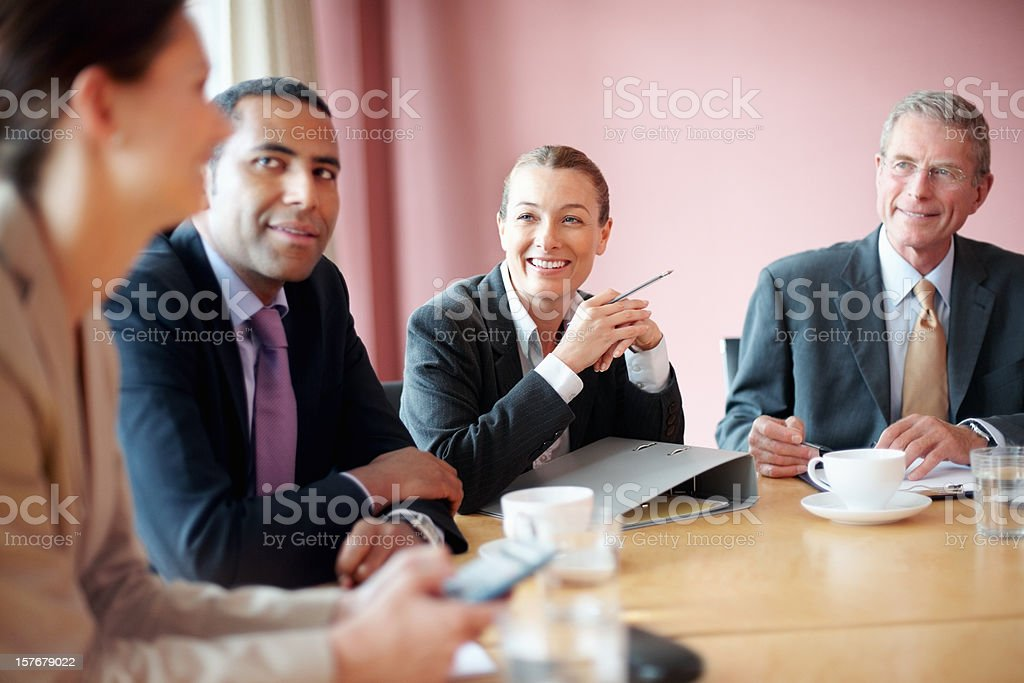 Successful business people in a meeting at conference room royalty-free stock photo
