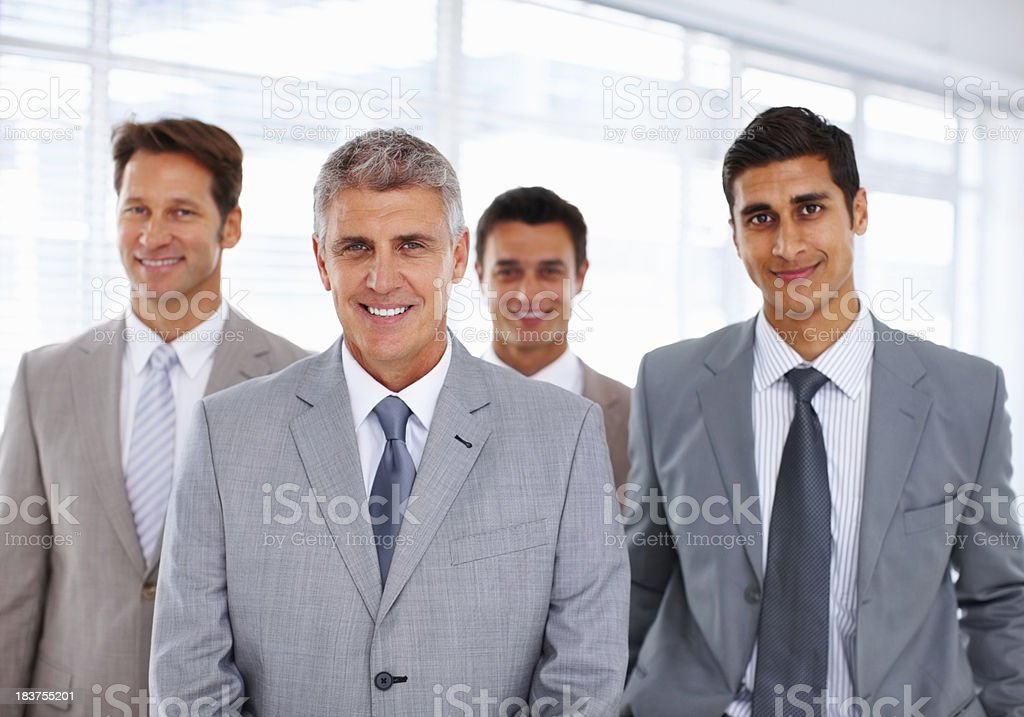 Successful business people smiling royalty-free stock photo