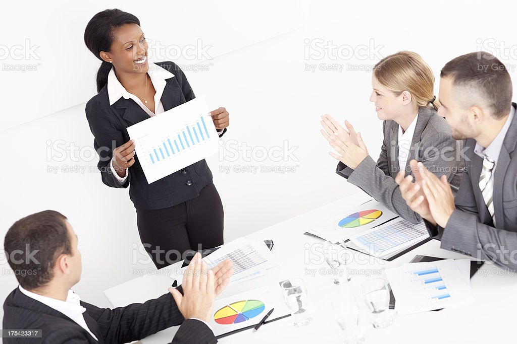 Successful business presentation. royalty-free stock photo