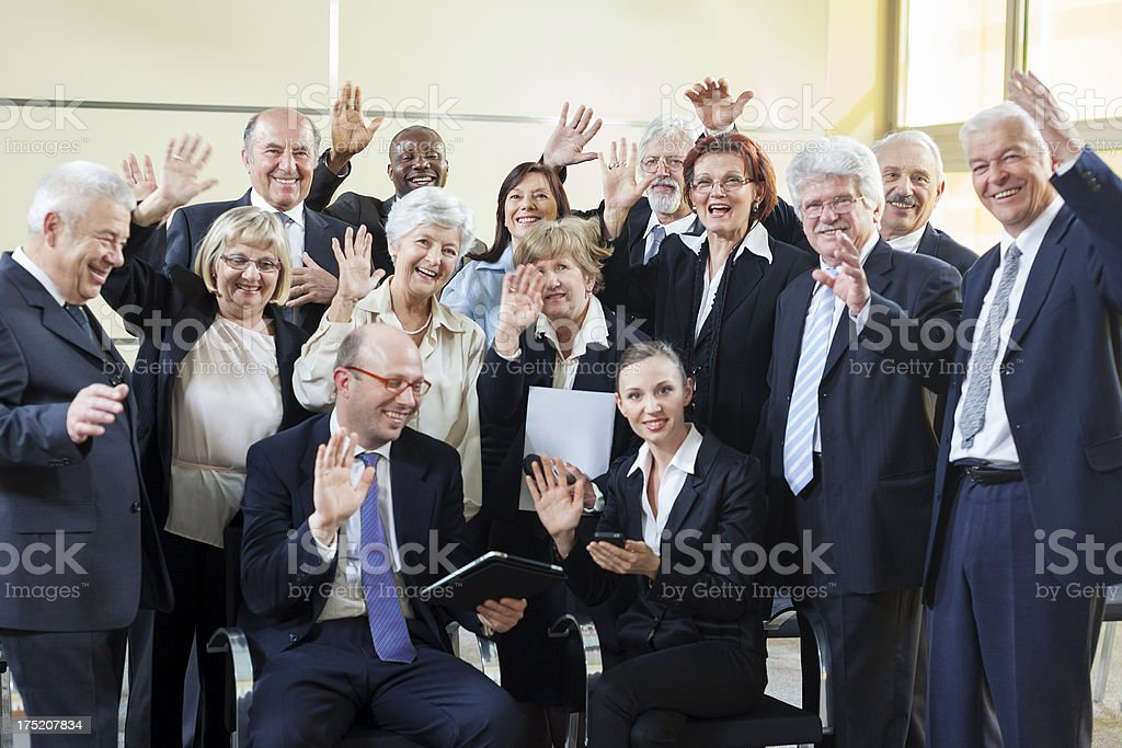Successful business seminar royalty-free stock photo