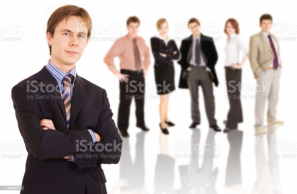 Successful business team royalty-free stock photo