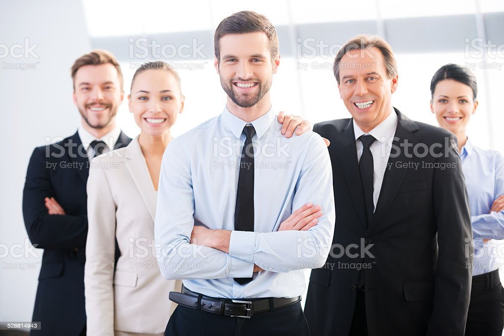 Successful business team. stock photo