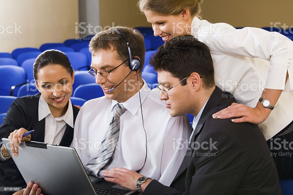 Successful business team stock photo