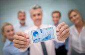 Successful business team showing online growth development