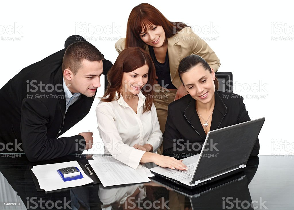 Successful business team working. royalty-free stock photo