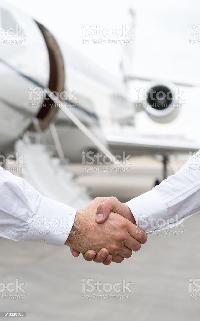 Successful business trip stock photo