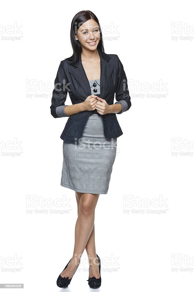Successful business woman in full length stock photo