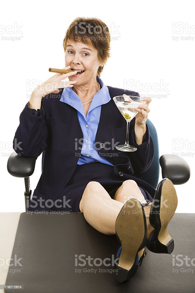 Successful Business Woman Relaxed royalty-free stock photo