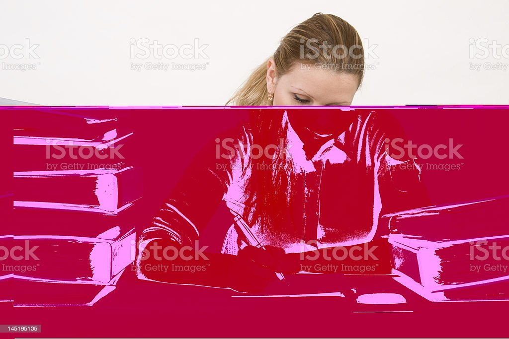 Successful business woman working royalty-free stock photo