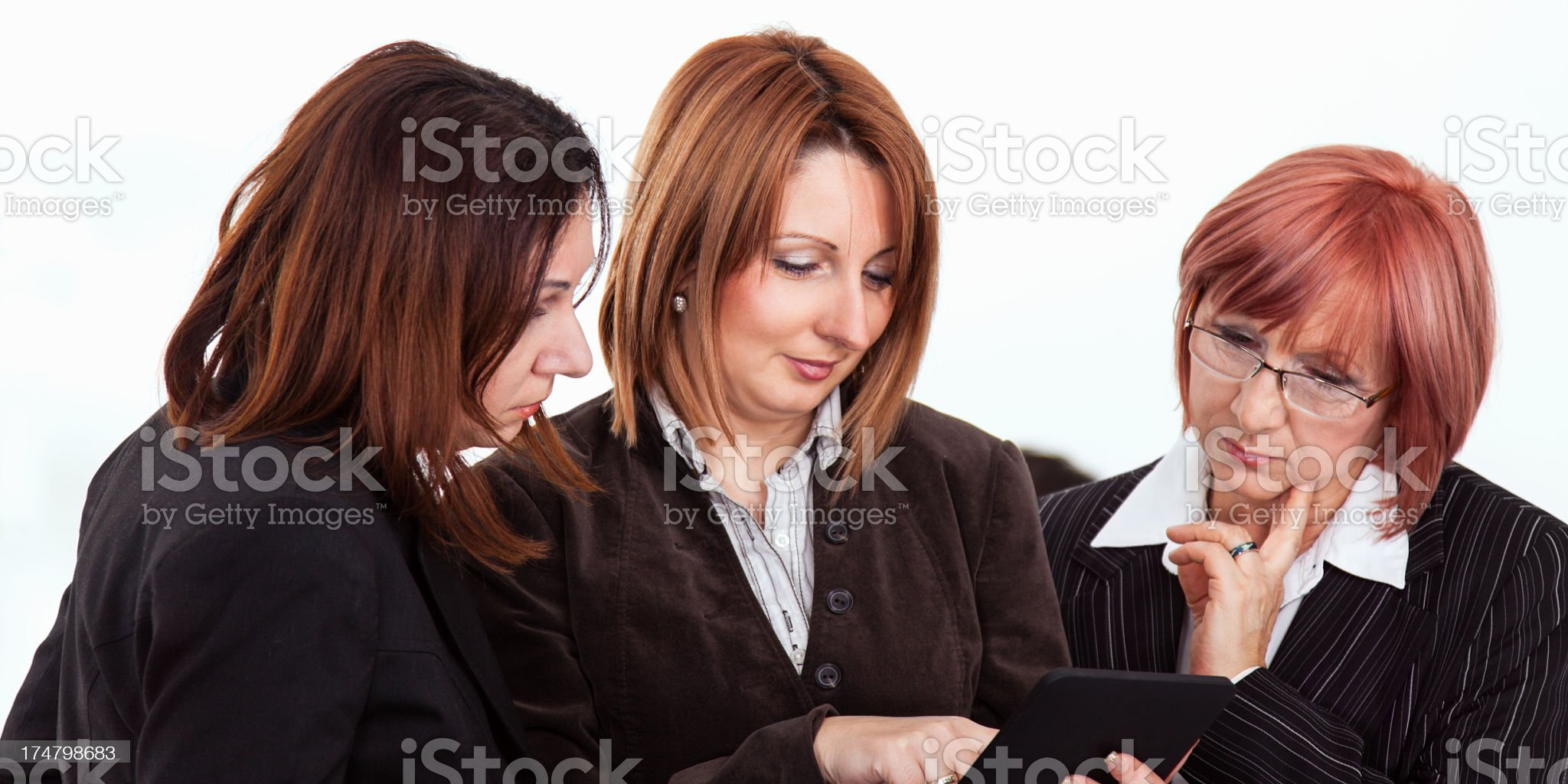 Successful business women working royalty-free stock photo