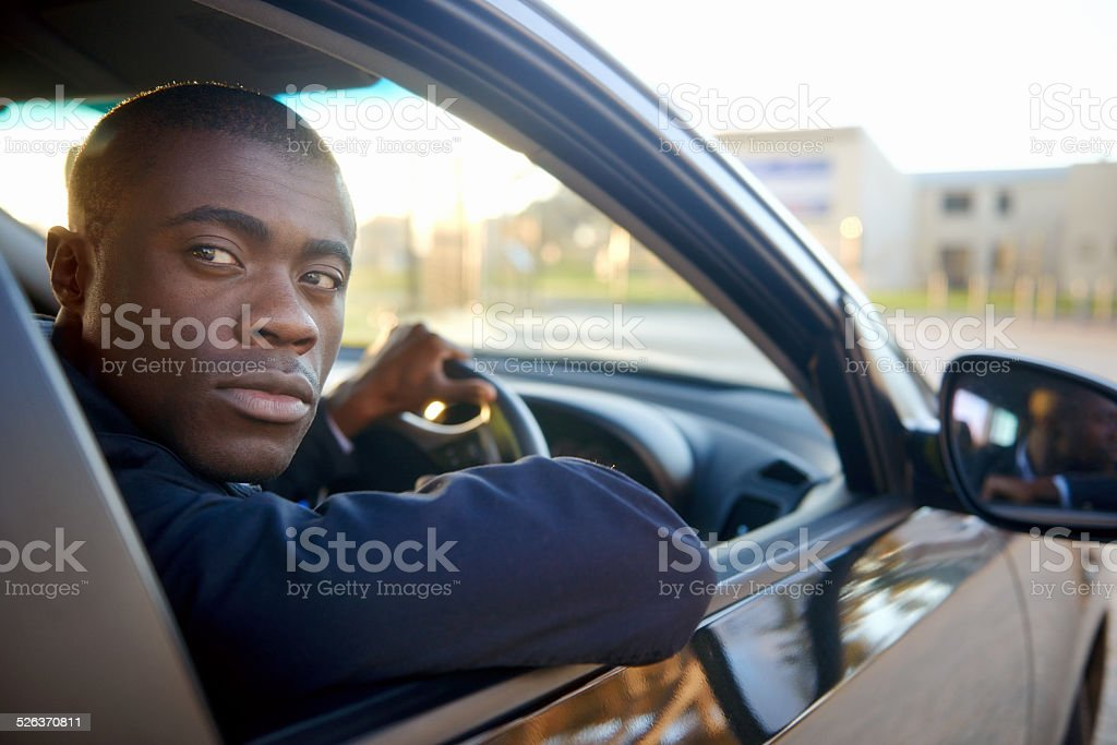 successful businessman car stock photo