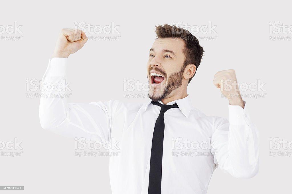 Successful businessman. stock photo