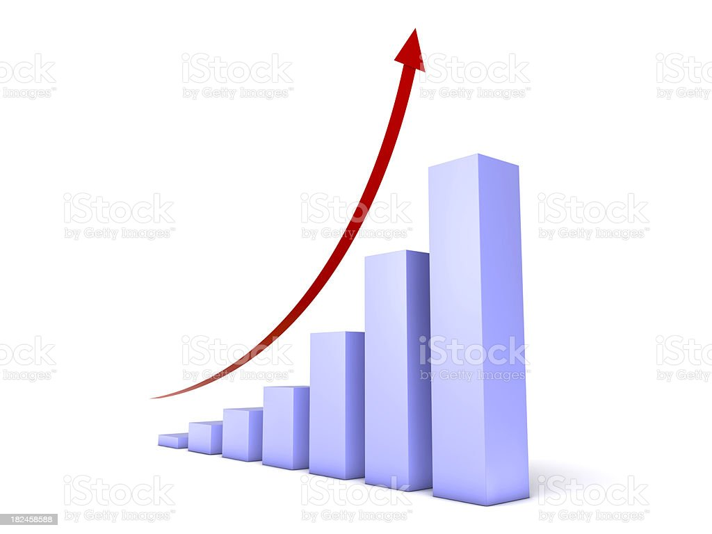 Gráfico de sucesso foto royalty-free