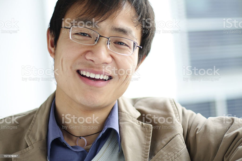 successful Chinese business man royalty-free stock photo