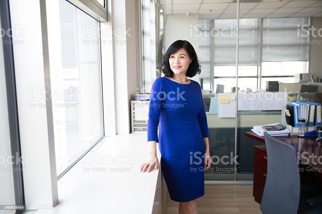 successful chinese business woman stock photo