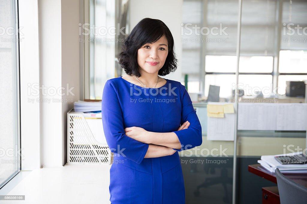 successful chinese business woman stock photo