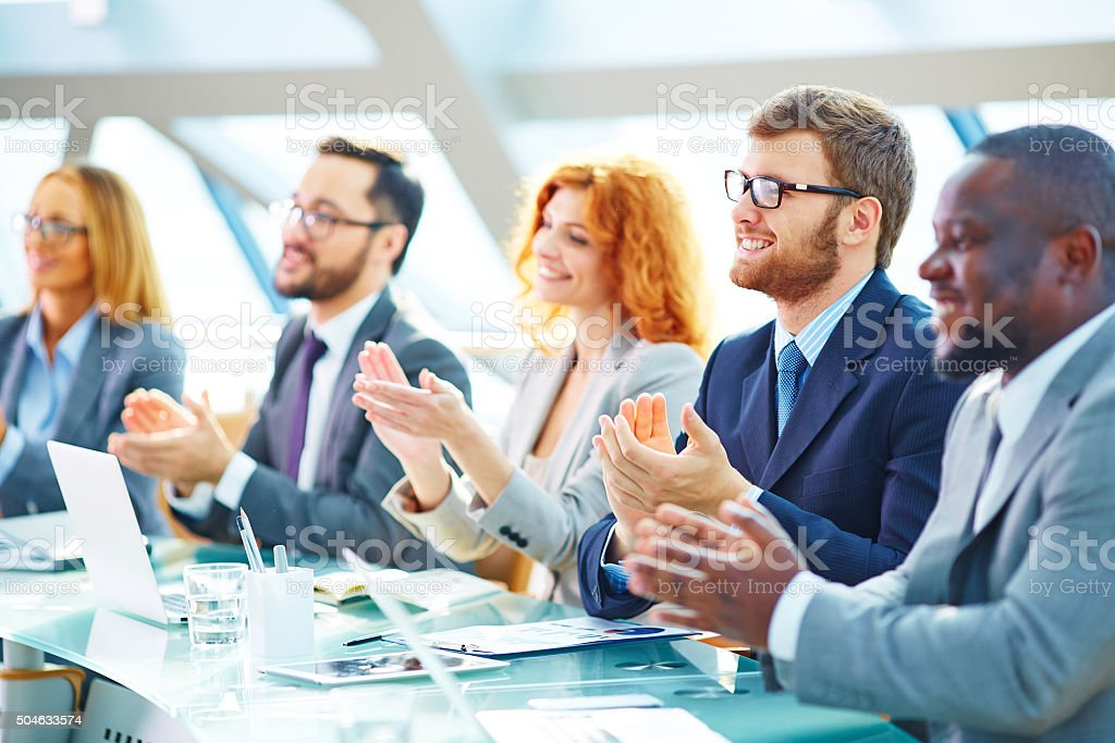 Successful conference stock photo