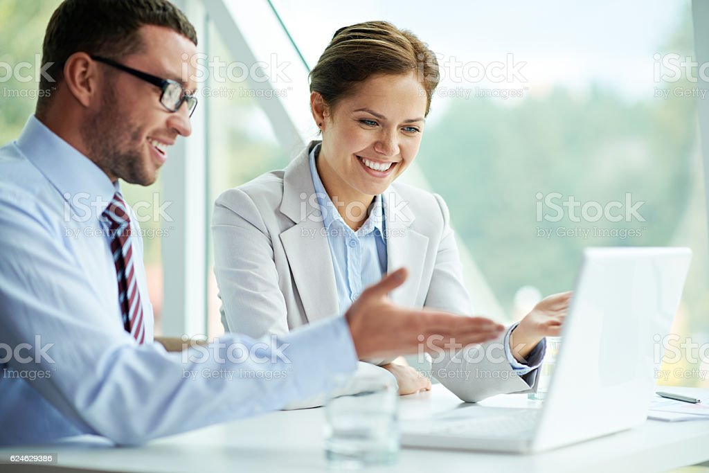 Successful cooperation stock photo