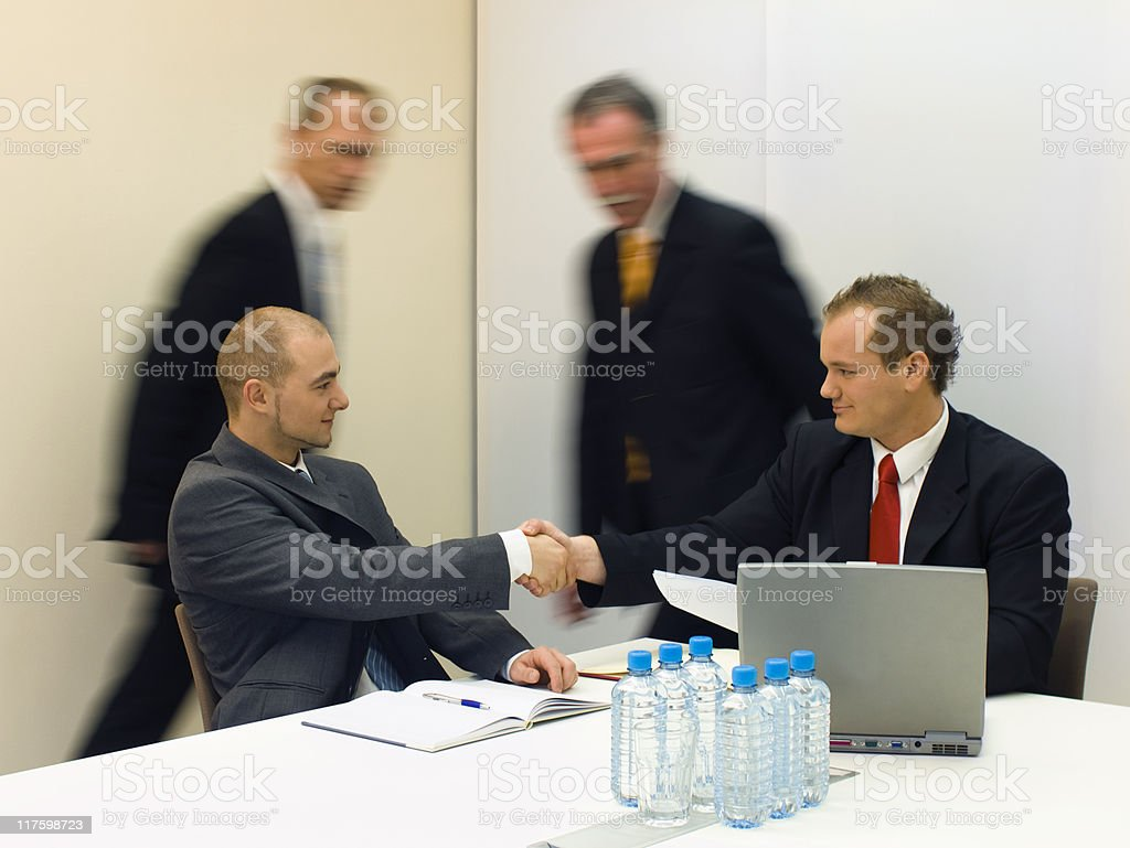 Successful deal royalty-free stock photo