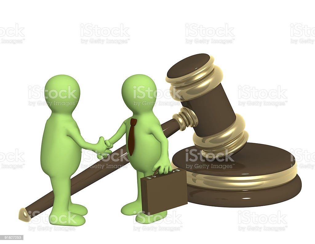 Successful decision of a legal problem royalty-free stock photo