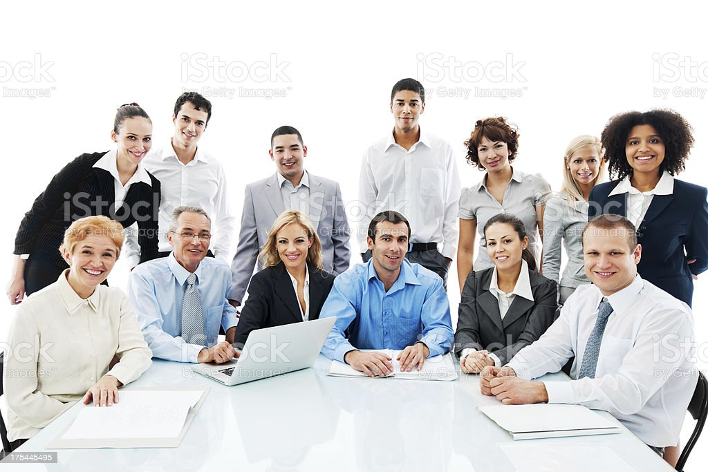 Successful diversity people on a meeting. royalty-free stock photo