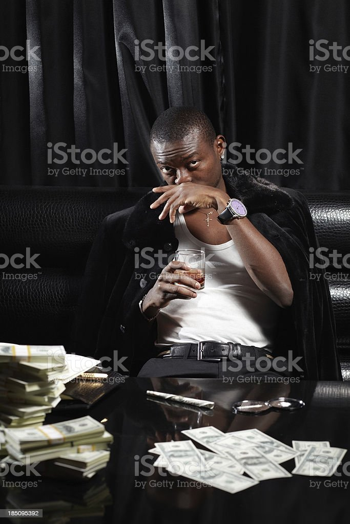 Successful drug dealer royalty-free stock photo