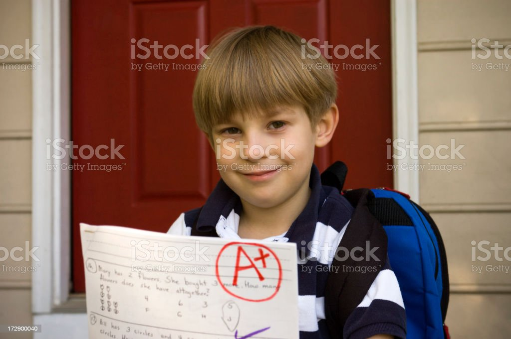 Successful Elementary Student royalty-free stock photo