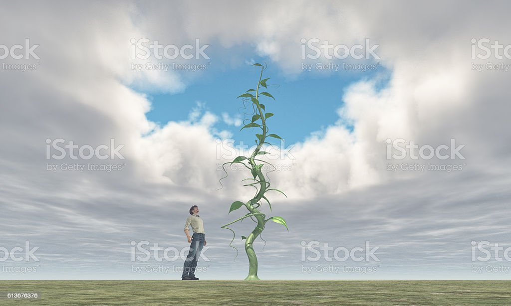 Successful farmer and his big vegetables stock photo