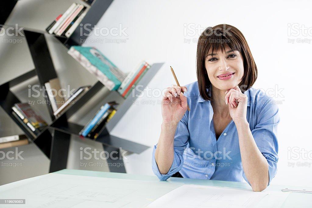 Successful Female Architect or Enginneer stock photo