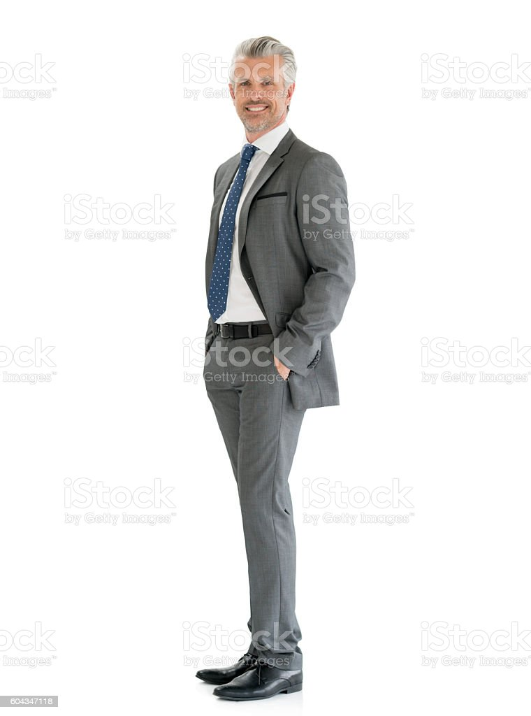 Successful fullbody business man stock photo