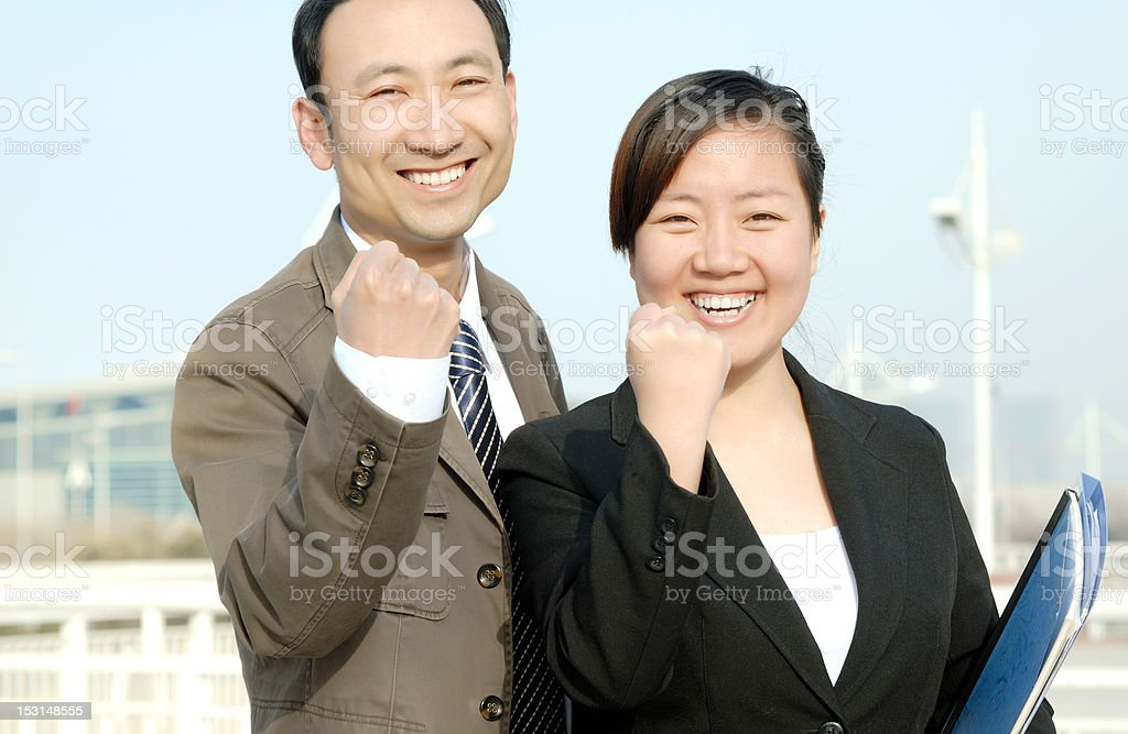 Successful gestures royalty-free stock photo