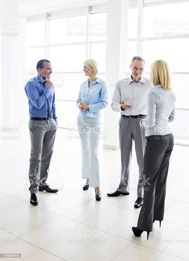 Successful group of businesspeople talking. royalty-free stock photo