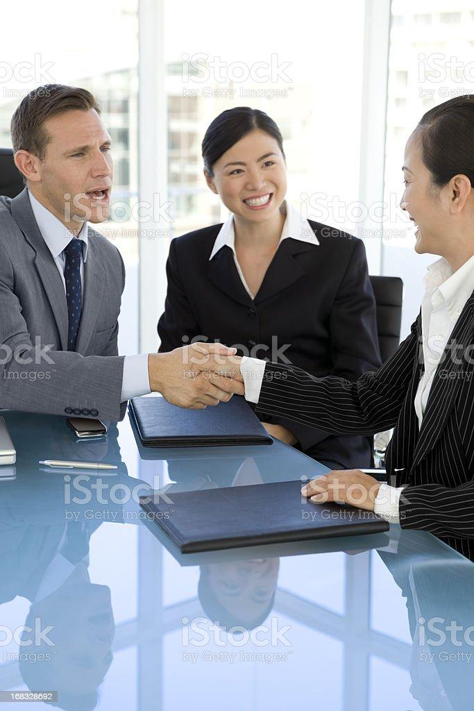 Successful Handshake royalty-free stock photo