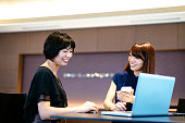 Successful Japanese female managers deciding on investment proposals.