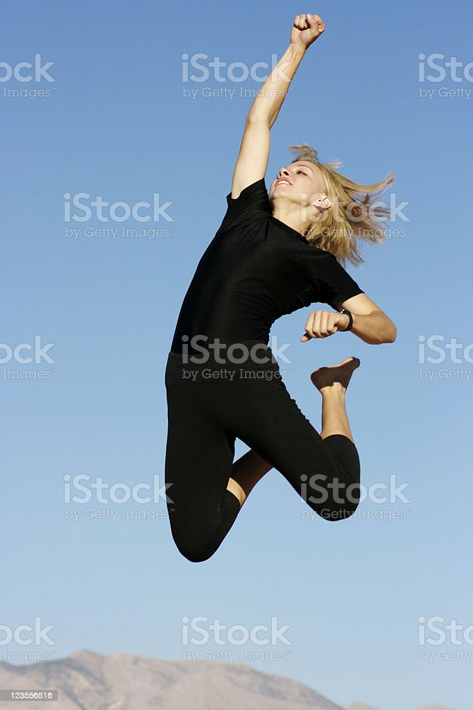 Successful jump royalty-free stock photo