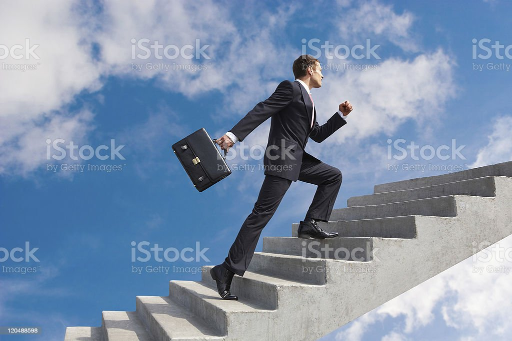 Successful leader stock photo