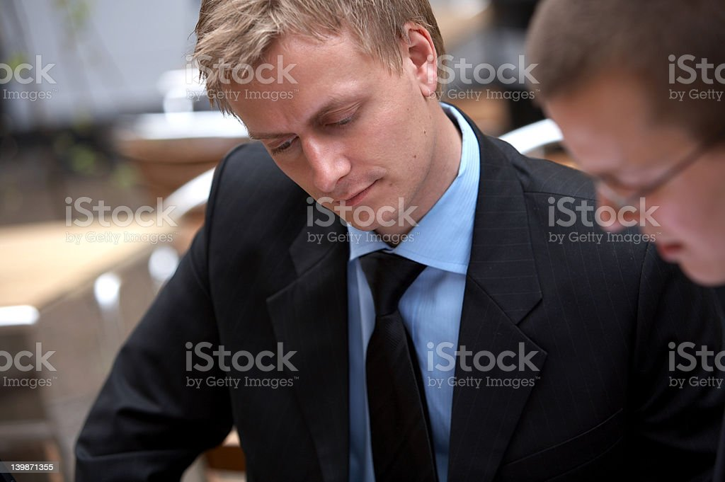 Successful male business executives at a meeting royalty-free stock photo