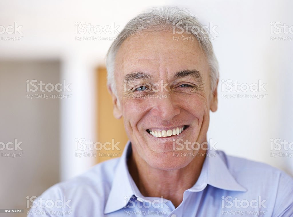 Successful male entrepreneur smiling royalty-free stock photo