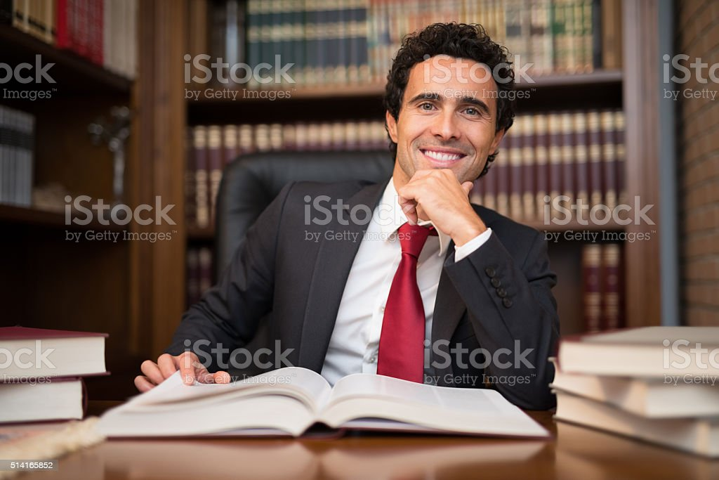 Successful man portrait stock photo