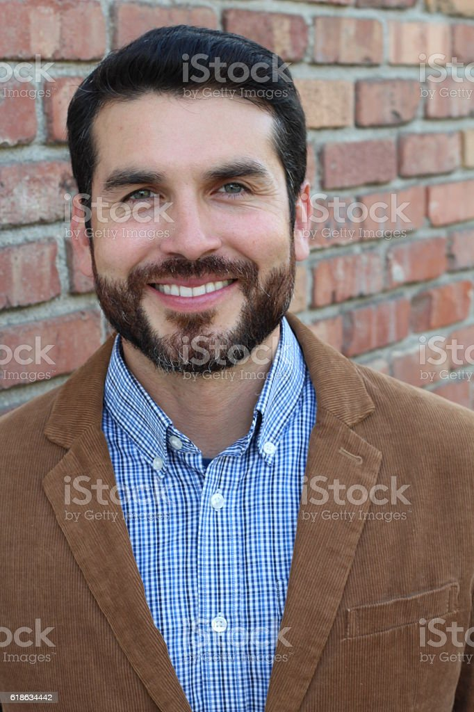 Successful man with a lot of leadership stock photo