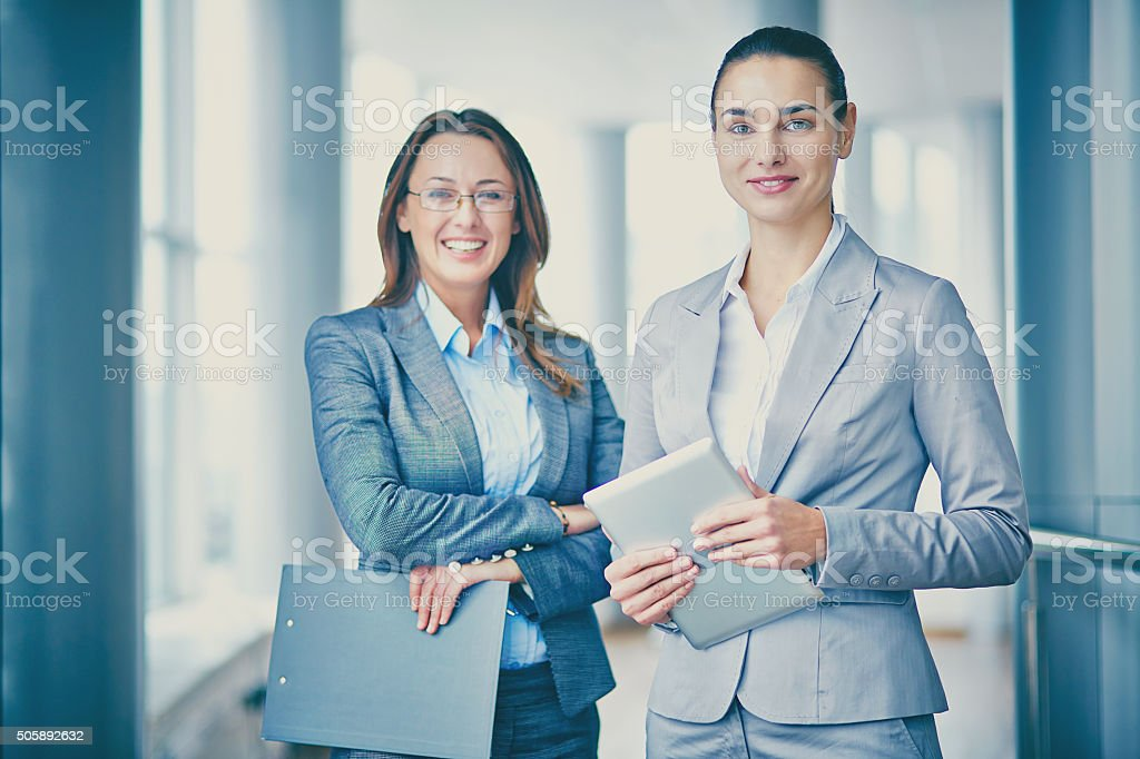 Successful managers stock photo