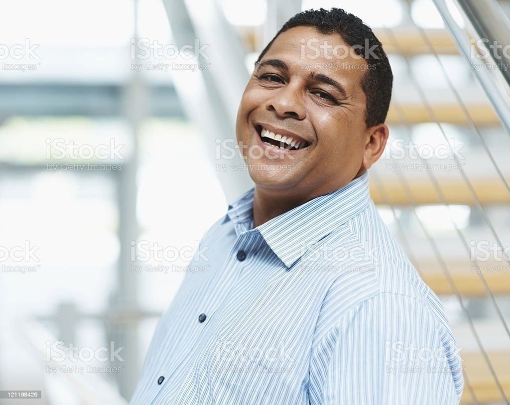 Successful mature business man laughing royalty-free stock photo