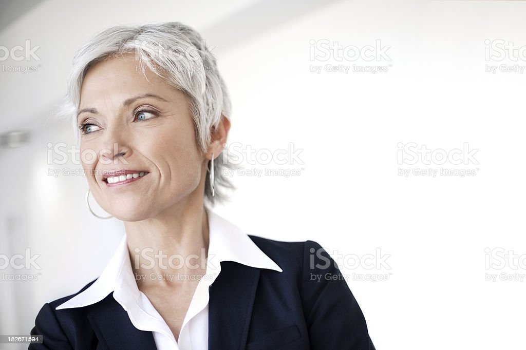 Successful mature business woman royalty-free stock photo