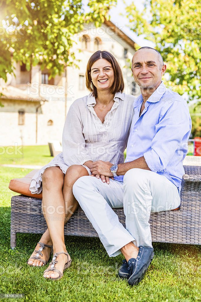 Successful Mature Couple, Strong Marriage from Italy royalty-free stock photo
